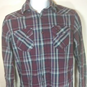 American Rag button down Mens Size Small Red
